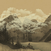 The Mountain Lake Art Print by Zach Terrell