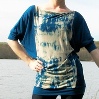 Blue Granite Top Hand Dyed Jersey LAST ONE by NoelFales on Etsy