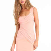 Mysteriously Sexy Dress in Peach - &amp;#36;42.00 : ThreadSence.com, Your Spot For Indie Clothing &amp; Indie Urban Culture