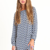 Seeing Zig Zags Chevron Dress - $40.00 : ThreadSence.com, Your Spot For Indie Clothing & Indie Urban Culture