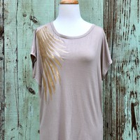 Foxy Feathers Top - Choix Boutique - Boho Clothing, Vintage Style Clothing & Artisan Jewelry