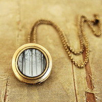 Photo Art Brass Locket Ink and Snow by EyePoetryPhotography