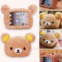1 Fashion Lovely Cute 3D Teddy Bear Doll Toy Cover Case For Apple iPad Mini