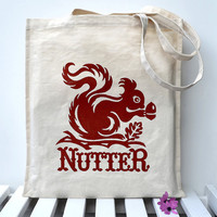 Squirrel Nutter Tote Bag by Snowdon on Etsy