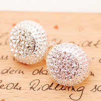 A 082611 u Women's Diamond Earrings Cute Earrings Small Jewelry