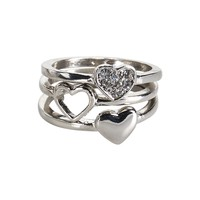 Heart Ring 3-Pack - Aeropostale