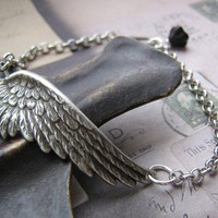 Angel Wing Bracelet by sweetVintage on Etsy