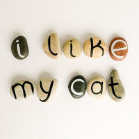 10 Magnets Letters Custom Quote Beach Pebbles I by HappyEmotions