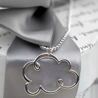 Silver Lined Cloud necklace by kari1121 on Etsy