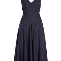 Lanvin | Washed-twill midi dress | NET-A-PORTER.COM