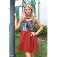 Etched In Stone Aztec Dress