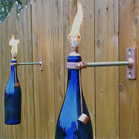 3 HARDWARE ONLY Wine Bottle Tiki Torch kits by GreatBottlesofFire