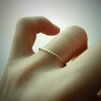14k Yellow Gold Twisted Wire Ring - Beauty Of Timeless Simplicity