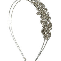 Flower Petal Metal Headband - Teen Clothing by Wet Seal