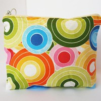 Vintage Toiletry Bag Make Up, Cosmetic,circles Print Big Size By El Rincón De La Pulga | Luulla