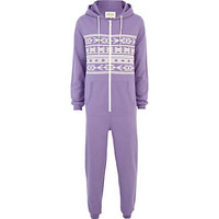 Purple aztec All-In-One - loungewear / all in ones - sale - men