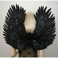 Amazon.com: FashionWings (TM) Duo Use Black Swan Bird Raven Crow Costume Fallen Angel Gothic Fairy Feather Wings, Pointing up or Down. Adult Size. Unisex.: Everything Else