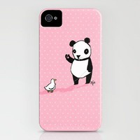 Little Panda and Toy Duck iPhone Case by Dale Keys | Society6