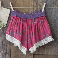 Pink & Cream Indie Print Lounge Shorts