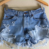 Vintage Levi CutOffs by clothingbymjlopez on Etsy