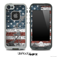 Vintage USA Flag Skin for the iPhone 5 or 4/4s LifeProof Case - iPhone