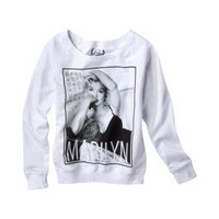 Product: License Juniors Marilyn Graphic Tee - White