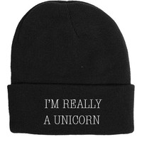 I'm Really a Unicorn Beanie | Frankie Phoenix