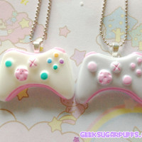 Xbox 360 Controller Necklace Pastel Kawaii