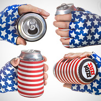 USA Beer Mitt Koozie: Beer Koozie Attached to Your Hand