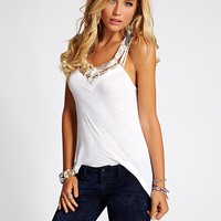 Macramé Tank at Guess