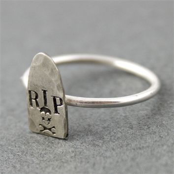 Tombstone Stacking Ring - Spiffing Jewelry