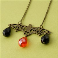 Filigree Bat Necklace - Spiffing Jewelry