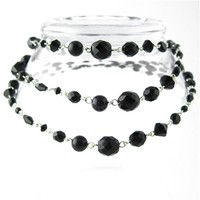 Black Gradient Buxom Necklace - Spiffing Jewelry