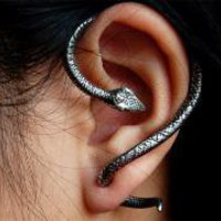 Temptation Serpent Single Ear Wrap Earring | The Lipstick Diaries