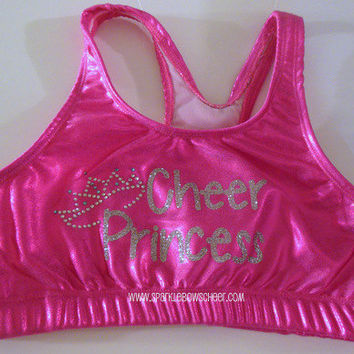 Cheer Princess Rhinestone Glitter Metallic by SparkleBowsCheer