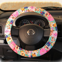 by (CoverWheel) Steering wheel cover for wheel car accessories Floral Mint Wheel cover