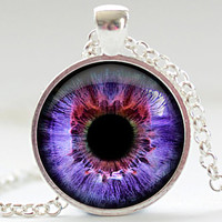 Violet Eye Necklace Third Eye Jewelry Evil Eye by FrenchHoney