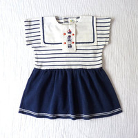 Vintage baby girls sailor dress 12 months by LazerBabyVintage