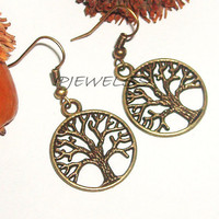 Cute metal tree charm casual earrings