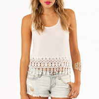 Lovely Betty Trim Tank Top $22