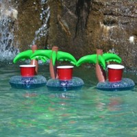 Floating Palm Island Drink Holder 3 Pack:Amazon:Everything Else