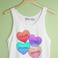 5SOS Hearts Crop Tank Top | Yotta Kilo