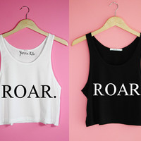 ROAR. Crop Tank Top