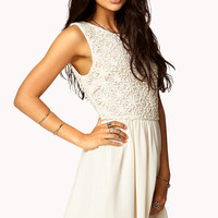 Crocheted Fit & Flare Dress