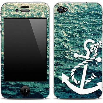 Rough Water Anchor iPhone Skin - iPhone