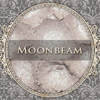 MOONBEAM Mineral Eyeshadow: 5g Sifter Jar, Pale Silver Nude, Vegan Cosmetics, Shimmer Eyeshadow