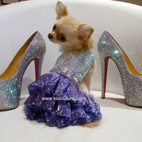 Sparkling Mystic Swarovski Crystal Couture Dog Dress by KOCouture