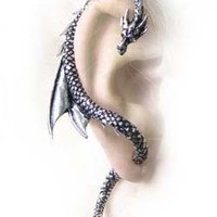 Dragons Lure Earring Wrap by Alchemy Gothic AG-E274