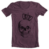 Unisex ROYAL SKULL Men's Women's T shirt  by FullSpectrumClothing