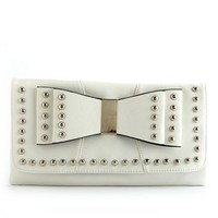 Studded Bow Clutch: Charlotte Russe